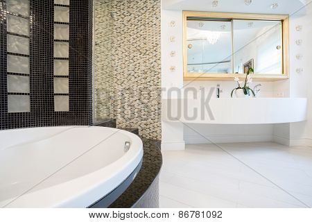Designed Bathroom In Expensive Residence
