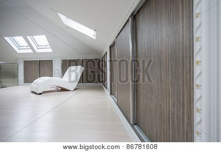 Spacious Interior In The Attic