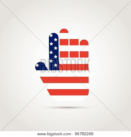 Usa Abstract Hand