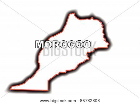 Outline Map Of Morocco