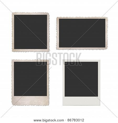 Retro Photo Frames / EPS10 Vector Illustration /
