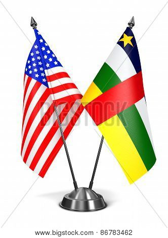 USA and Central African Republic - Miniature Flags.