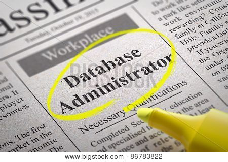 Database Administrator Jobs in Newspaper.