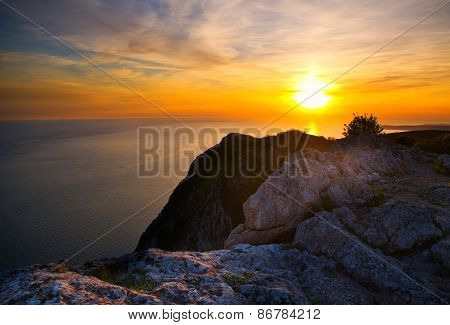 Sunset From Hight Mountains