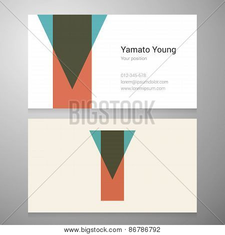 Vintage Letter Y Icon Business Card Template