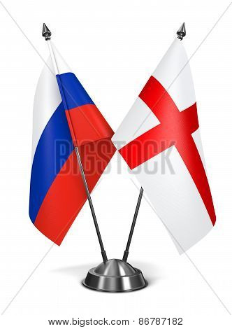 Russia and England - Miniature Flags.