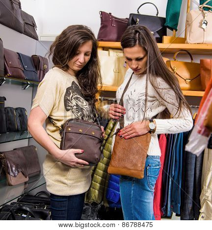 Beautiful Women Choosing Bags