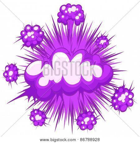 Close up purple cloud explosion