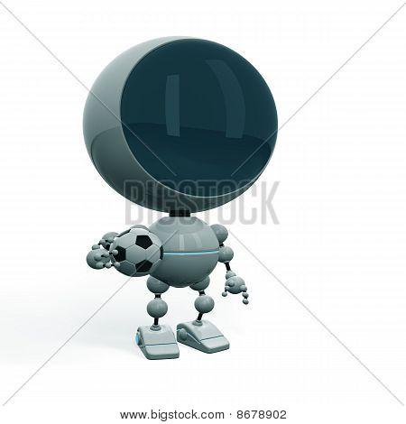 Football Player With Ball - Nice Figurine