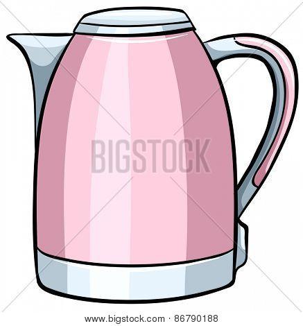 Close up pink water boiler