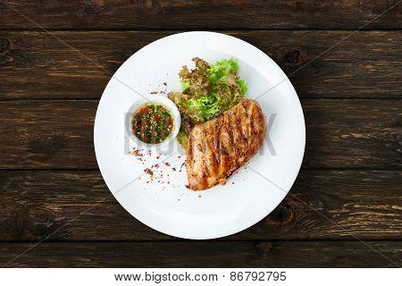 Restaurant Food - Chicken Fillet Grilled Steak