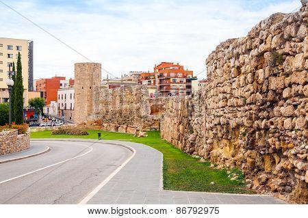 The Roman Circus. Ancient Stone Fortress In Tarragona