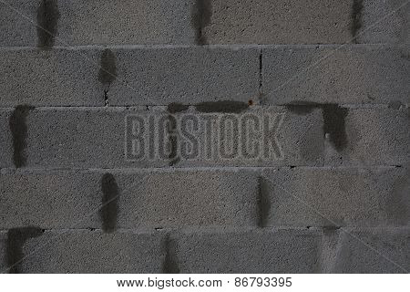 Dark Texture With Tile Floor And Brick Wall