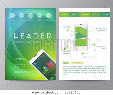 Booklet, magazine poster, flyer, abstract banner, creative, decorative illustration ,vector, brochur