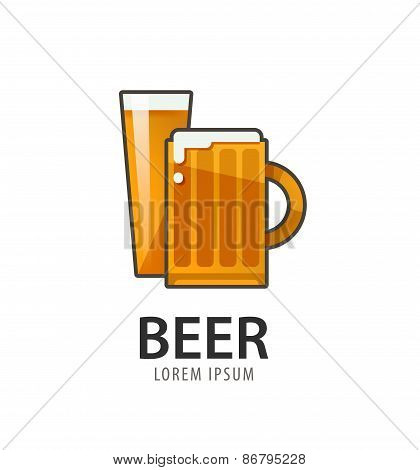 Original badge logo design, icon template for beer house, bar, pub, brewing company, brewery, tavern