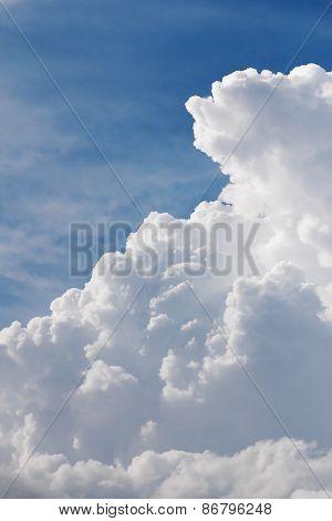 White Clouds Closeup In Blue Sky