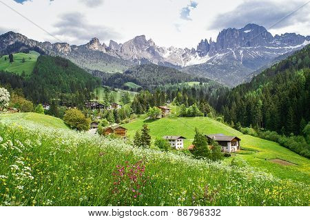 South Tyrolean Mountain Landscape
