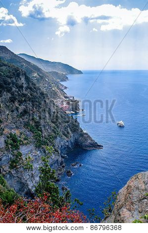 Cliffs In The Cinque Terre, Liguria, Italy