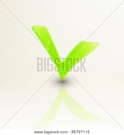 illustration of abstract colorful checkmark