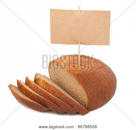 Bread with price tag