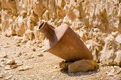 picture of masada  - Lot in one of the storerooms in Masada in Israel - JPG
