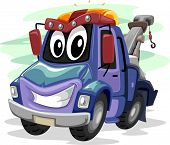 foto of tow-truck  - Mascot Illustration of a Tow Truck Smiling Widely - JPG
