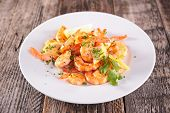 picture of shrimp  - fried shrimp with parsley - JPG