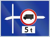 pic of intersection  - Polish traffig sign - JPG