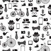 picture of rogue  - Seamless vector pattern in hipster style background or texture for design - JPG