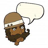 pic of hunter  - cartoon victorian big game hunter with speech bubble - JPG