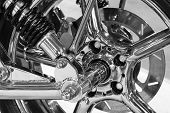 Постер, плакат: Custom motorcycle wheel