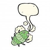 pic of woodlouse  - cartoon bug with speech bubble - JPG