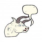 pic of bull head  - cartoon angry bull head with speech bubble - JPG