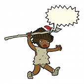 picture of caveman  - cartoon caveman with speech bubble - JPG