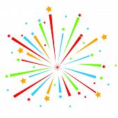 image of firework display  - vector Firework Display for new year and all party - JPG