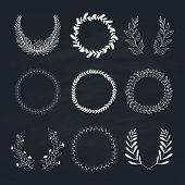picture of laurel  - Collection of handdrawn laurels and wreaths - JPG