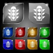 pic of traffic signal  - Traffic light signal icon sign - JPG