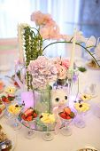image of banquet  - Banquet birthday table setting on evening reception - JPG