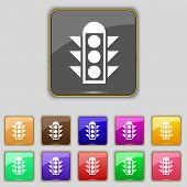 picture of traffic signal  - Traffic light signal icon sign - JPG