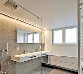 foto of bathroom sink  - luxury bathroom estate home with sink and shower - JPG