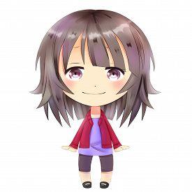 stock photo of chibi  - Anime chibi - JPG