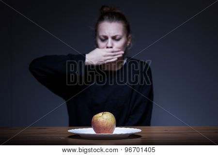 Woman Refusing To Eat