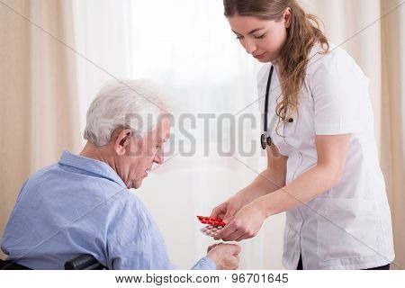 Senior Taking Medications