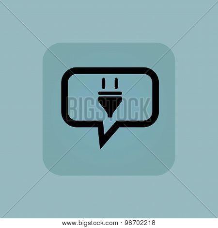 Pale blue plug message icon