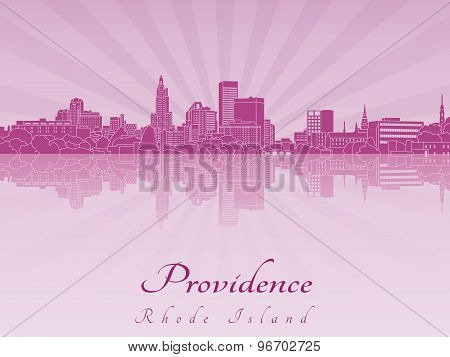 Providence Skyline In Purple Radiant Orchid