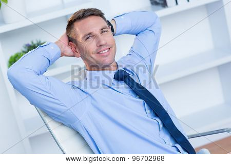 Portrait of a smiling businessman in the office