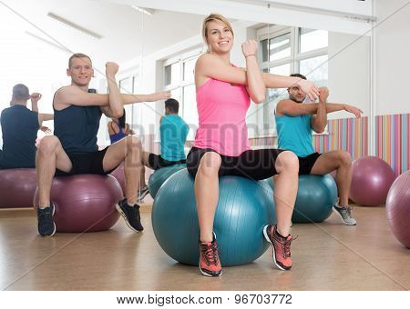 Workout With Fitness Balls