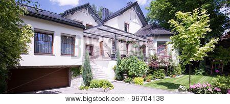 Facade Of Luxury House