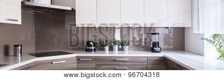 Beige And White Kitchen Design