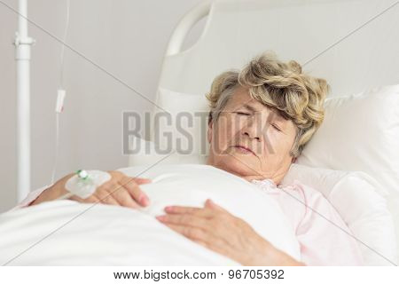 Sleeping Sick Woman